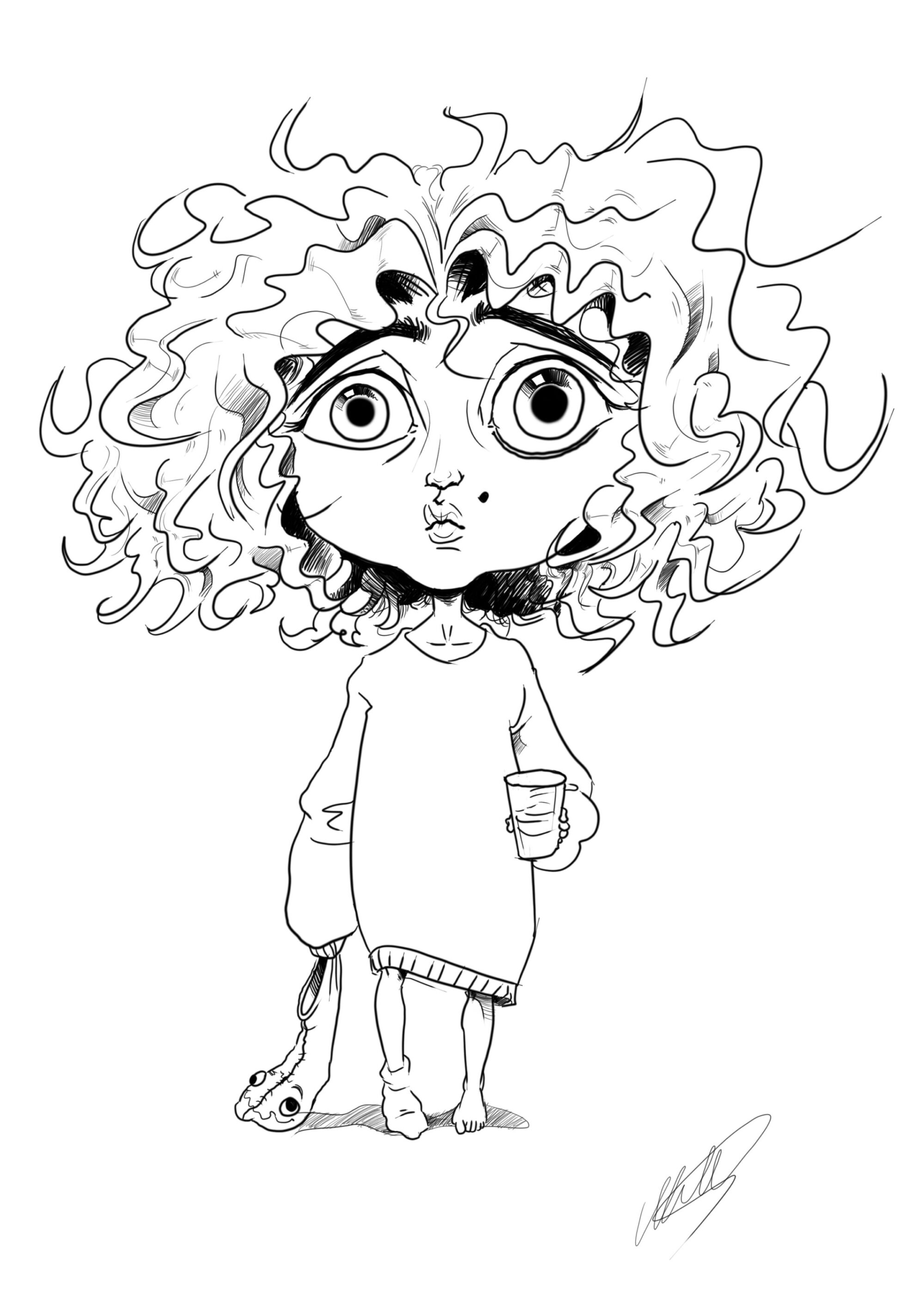 Curly haired girl
